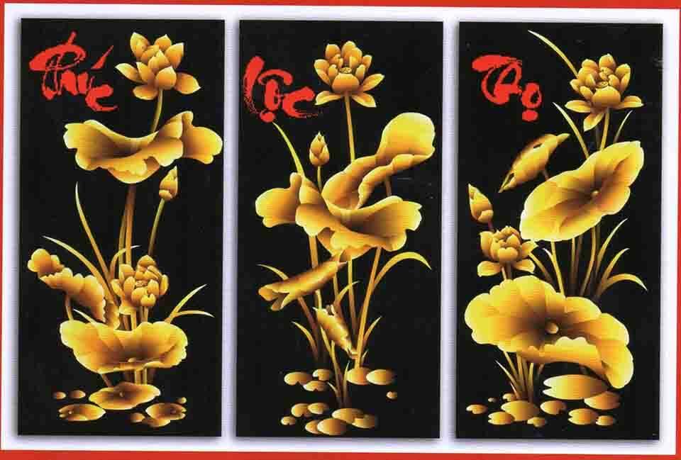 Hồ sen vàng - quà tết cho doanh nghiệp