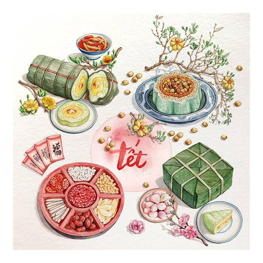 8 món ăn ngon truyền thống trong mâm cỗ ngày Tết miền Bắc, Trung, Nam dễ làm