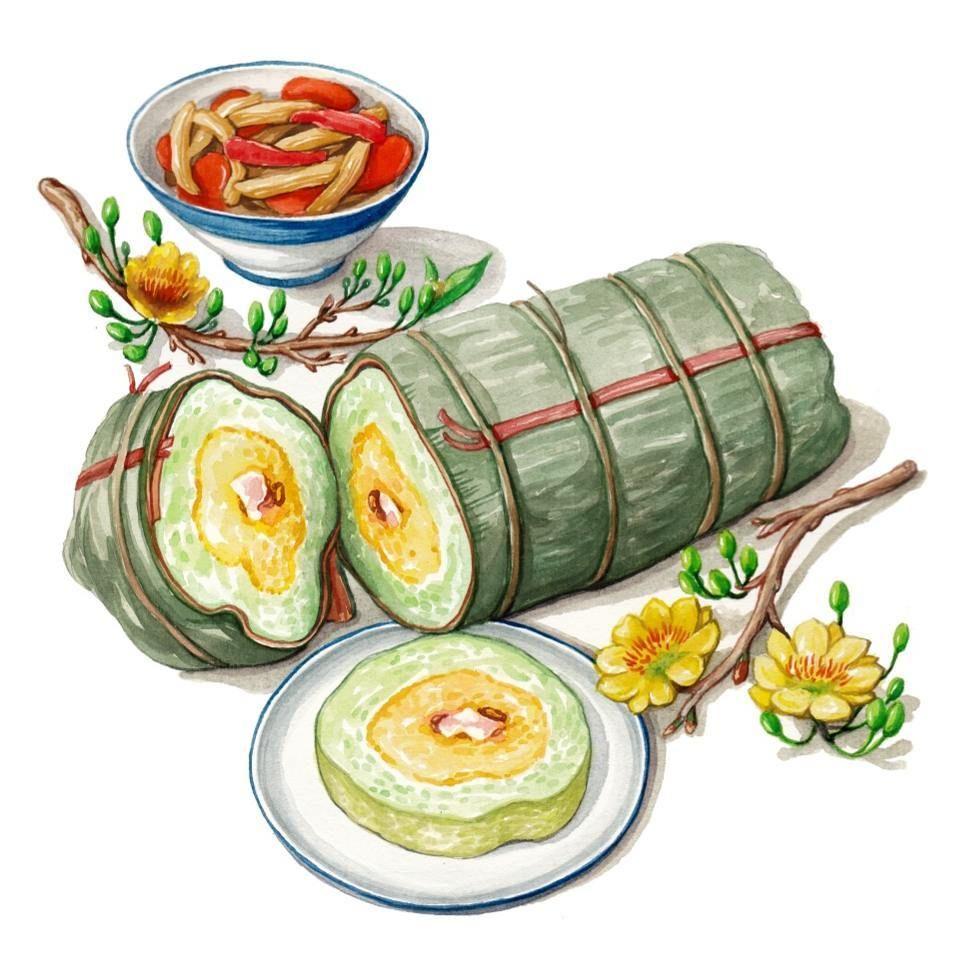 hướng dẫn cách gói bánh tét ngày tết bằng lá chuối ngon, xanh, đẹp mắt ăn là ghiền