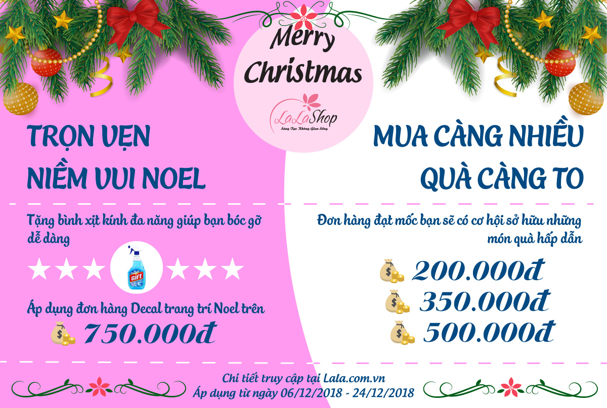 Vui Giáng Sinh Cùng Lala Shop