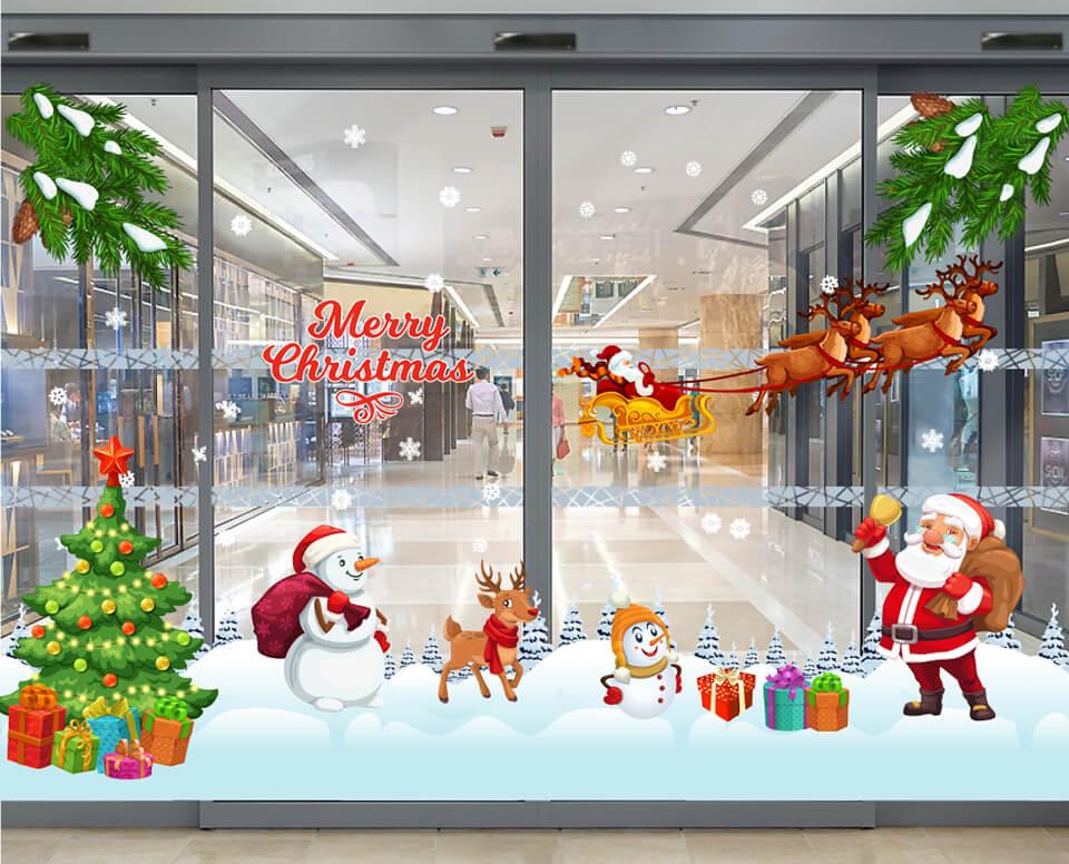 Decal trang trí Noel mẫu mới tại Lala Shop